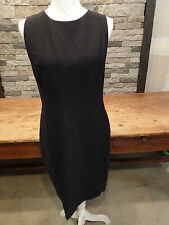 Narciso Rodriguez Dress Solid Fitted Sleeveless Full Back Zip Black Sz 50 $1895