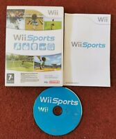 Wii Sports Nintendo Wii RARE BIG BOX COMPLETE WITH MANUAL