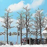 BUSCH HO SCALE 1/87 WINTER TREES 165MM (4) | BN | 6158
