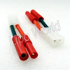 4mm HXT Stecker auf  Tamiya Buchse 12AWG !!! Adapter Lade Kabel LiPo Akku