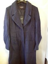 M&S Limited Edition Wool Mix Long Coat Size: 8