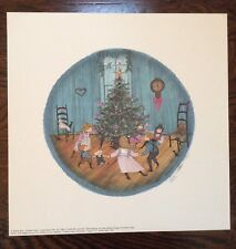 P Buckley Moss Christmas Dance Signed Limited Edition Print 1987 3693/8212