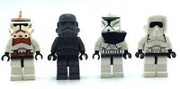 LEGO LOT OF 4 STAR WARS CLONE TROOPER MINIFIGURES SCOUT SHOCK TROOP FIGS