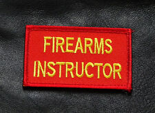 FIREARMS INSTRUCTOR EMBROIDERED 3 INCH TACTICAL MORALE HOOK PATCH (FR2)