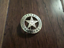 GOLD TEXAS RANGER COA SHERIFF WESTERN STYLE BADGE PIN BACK POLICE MARSHALL PIN