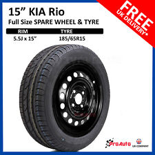 "KIA RIO 2010 - 2017 FULL SIZE STEEL SPARE WHEEL 15""  AND TYRE 185/65R15"