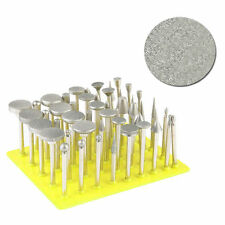 50Pcs Diamond Coated Grinding Grinder Head Glass Burr For Rotary Tools
