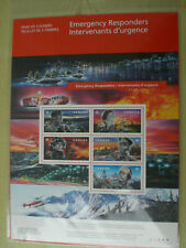 Canada 2018 Emergency Responders Full Pane 5 Stamps Police Fire Army Sc # 3123
