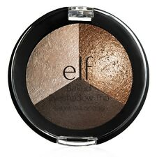 E.L.F ELF BAKED EYESHADOW TRIO SMOKEY EYE - WET OR DRY BLUE PURPLE BROWN PEACH