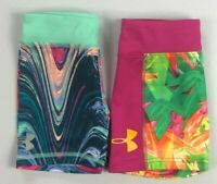 Girl's Little Youth Under Armour Heat Gear Spandex Shorts