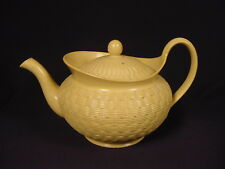 RARE ANTIQUE EARLY 1800s BASKET WEAVE TEAPOT WEDGWOOD YELLOW WARE MINT