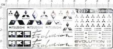1/18 1/12 1/10 1/24 1/20 chrome(metal) decals MITSUBISHI EVOLUTION LANCER 2037