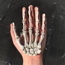 Halloween Plastic Ghost Skeleton Hand Bones Crafts Decoration Party Tricky