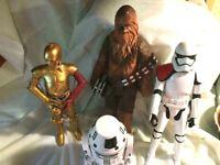 Star Wars The Force Awakens include C-3PO, Storm trooper,Chewebaca,BB-8 Figures