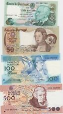 More details for four portugal banknotes 20 escudos to 500 escudos in near mint condition.