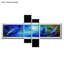 Large Modern Abstract Oil Painting on Canvas Contemporary Wall Art Framed Abs100