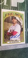 2021 Topps Heritage JD Martinez Autograph Boston Red Sox On Card Auto