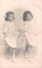 R229313 Children. Twins. Girls. Old Photography. Postcard. C. C. Higgs