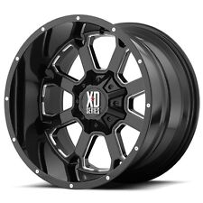 20 Inch Black Wheels Rims LIFTED Chevy 2500 3500 Dodge RAM 8 Lug Hummer H2 20x9