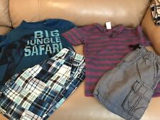 Lot of 2 Boys Gymboree Outfits. Shorts and Shirts. Size 6.