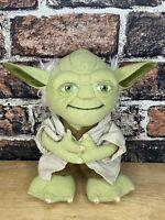"""2011 Star Wars Talking 9"""" Yoda Plush Toy - By Underground Toys"""