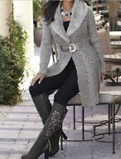 Women's Winter Fall Spring faux fur duster Sweater coat jacket size L /12/14 new