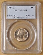 #HO 1949 NGC MS66 Jefferson Nickel!