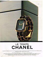 """Publicité Advertising 1992 La Montre """"Le Temps Chanel"""""""