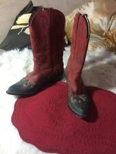 womens black red DURANGO cowboy western boots leather 9 M