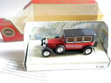 Rolly Royce Phantom I in rot rouge rosso roja red, Matchbox MoY Y-36 boxed!
