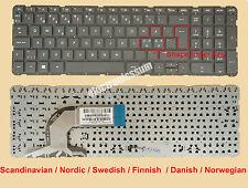 Nordic Keyboard for HP 720597-DH1 550130U00-035-G OSAMU2 NSK-CN6SC PK1314D1A21
