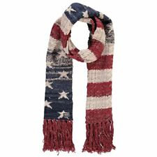 RALPH LAUREN American Flag Inspired Knitted Scarf rrp £60 - Ideal Gift Idea
