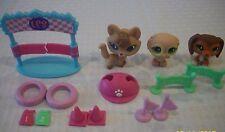 Littlest Pet Shop # 673 674 675 Training Park Playset Dachshund Fox Owl