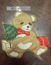 (4,99 €/ Stück): 2 x textiler Weihnachtsschmuck Teddybär,Rico, 18 x 18cm #685