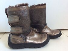 Pom D'api EU29 (US11.5-12) Lined Bronze Leather Boots