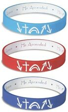 Assorted He Came He Died He Arose Witness Reversible Silicone Bracelets, 3 Pack
