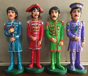 Beatles Sgt Pepper Figurines Hand Painted 25cm Origin Unknown
