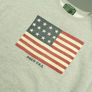 Vintage 1990s Ralph Lauren Country Flag Sweater Size Large