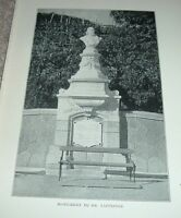 1903 Antique Print MONUMENT TO DR TAPPEINER South Tyrol Italy