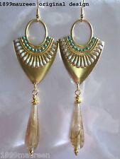 ART Deco Egyptian revival Orecchini Turchese Art Nouveau Stile Vintage molto a lungo