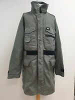 K123 MENS HELLY HANSEN GREEN COLLARED COATED RAIN COAT JACKET UK XL EU 54