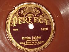 78 rpm WILLARD ROBINSON russian lullabye PERFECT 14801(red) nice SEE PICS