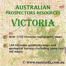 Australian Gold Maps VICTORIA. Gold Reports, Topography. Detecting, Prospecting.