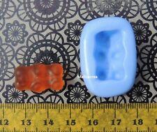 Moule 2cm x 1,3cm Bonbon mini-ourson , pâte fimo, porcelaine, plâtre, résine