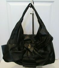 VALENTINO GARAVANI Black Nappa Leather Large Bow Hobo Bag