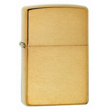 Zippo Brushed Brass Windproof Lighter Model 204B Lifetime Guarantee NEW L@@K