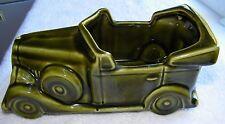 Vintage McCoy Floraline Ceramic Pottery #532 Green Convertible Car Planter