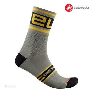 Castelli PROLOGO 15 Cycling Socks : BARK GREEN - One Pair