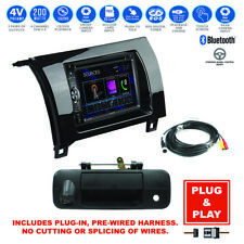 Plug-In Bluetooth USB CD Stereo+Backup Camera+07-13 Toyota Tundra Radio Dash Kit