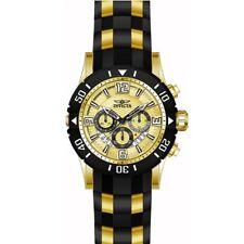 Invicta 23705 Men's Pro Diver Gold Tone Dial Steel & Polyurethane Strap Ch Watch